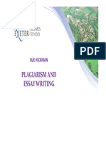 Plagiarism and Essay Writing 2013