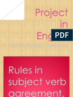 Subject Verb - Best Excample