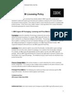 IBM Cognos BI Licensing Policy June 2013