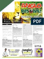 AngloResolve UFRGS2009 Fis Lit Esp Ing