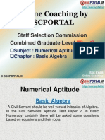 SSC CGL Numerical Aptitude Basic Algebra