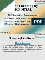 SSC CGL Numerical Aptitude Basic Algebra