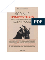 500 ans d'impostures scientifiques - Gerald Messadié