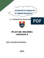 Plan de Mejora Educativa