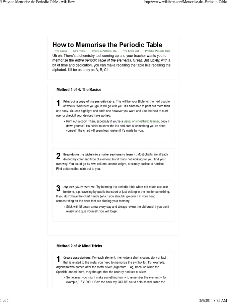 Tricks to learn modern periodic table gallery periodic table images 5 ways to memorise the periodic table wikihow chemical 5 ways to memorise the periodic table gamestrikefo Gallery