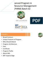 Detailed Program Content - Aphrm1