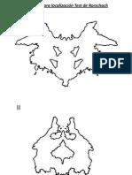 Pauta para localización Test de Rorschach