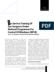 Ophthalmology in service Training public sector NPCB India