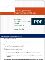 Financing for Oil and Gas COD Nov 2011