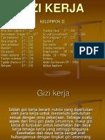 GIZI KERJA Powerpoint