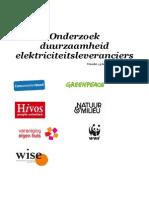 Consumentenbond Onderzoek Groene Stroom