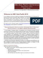 ABC Asia-Pacific 11th Call for Proposals. Oct 2011