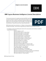 IBM Cognos BI License Descriptions June 11 2013