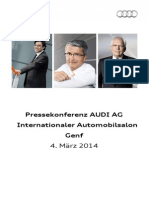Audi-Pressekonferenz Internationaler Automobilsalon Genf 2014