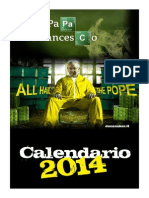 Calendario Papa Francesco 2014 (don Zauker)