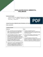 Ficha de Evaluacion Socio Ambiental- Preliminar