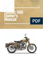 Classic 500 Owners Manual - Feb 2012
