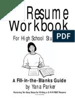Highschool Resume Work Book