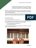Pasos básicos para tocar el piano o teclado