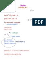 Algebra Formule Gimnaziu