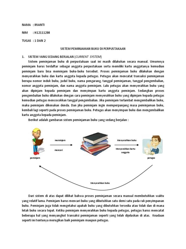 Analisis sistem peminjaman buku di perpustakaan ccuart Gallery