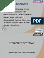 Presentacion Del Programa Sistemas 2014
