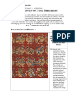 An Overview of Hook Embroidery - A pictorial overview of hook embroidery from historical sources