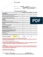 internship performance evaluation sanpei