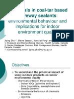 Chemicals in coal-tar based driveway sealants