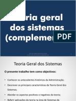 Sousa , Marcos Morais - Teoria Geral de Sistemas e Origem Dos Sistemas - Complemento AULA 07-08