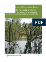 Contamination of Stormwater Pond Sediments by Polycyclic Aromatic Hydrocarbons (PAHs) in MinnesotaThe Role of Coal Tar-based Sealcoat Products as a Source of PAHs