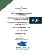 Project On Bajaj Automobiles Sales Marketing