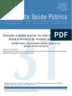 Artigo - Atenção à saúde mental na rede básica