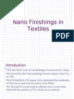 Nano Finishings in Textiles