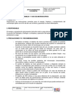 Manual de Procedimiento Microscopios
