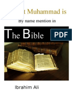 Prophet Muhammad PBUH is by Name Mentioned in the Bible(3)