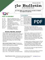 Beagle Elementary School Newsletter February 28, 2014