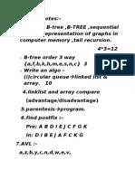 Data Structture sample question paper