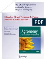 Altieri, M. Agroecologically Efficient Agricultural Systems for Smallholder Farmers