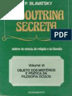 Helena Petrovna Blavatsky a Doutrina Secreta Volume VI