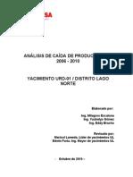 Informe Analisis Caida de Productividad Urdaneta Lago 29-10-10