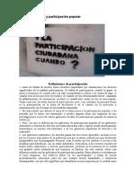 Democracia y participación popular