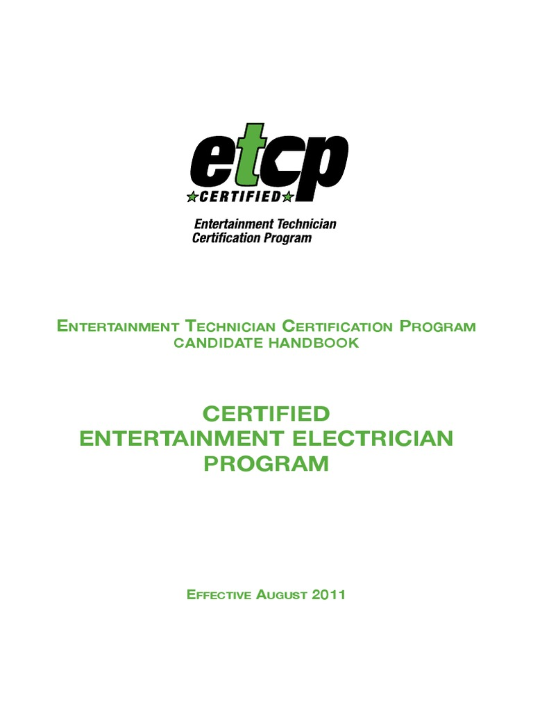 Etcp Electrical Handbook V2 Professional Certification Test