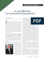 Meno costi, più efficienza. Con il document management.