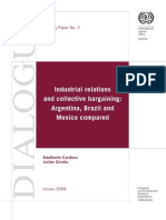 Cardozo y Gindin (2009) Industrial Relations and Colective Bargaining. Argentina, Brazil and Mexico Compared