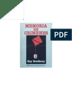 Bradbury, Ray - Memoria de Crimenes