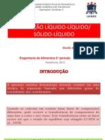 EXTRAÇÃO LÍQUIDO-LÍQUIDO