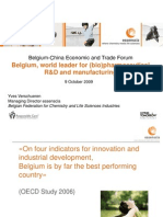Belgium-China Economic and Trade Forum, October 2009, Brussels