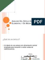 Análisis Del Dipolo Eléctrico Elemental y De Media