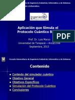 Aplicación que Simula el Protocolo Cuántico BB84